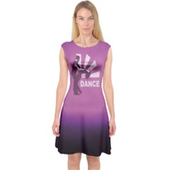 Dancing Is The Key To Life Capsleeve Midi Dress