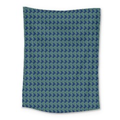 Clovers On Dark Blue Medium Tapestry by PhotoNOLA