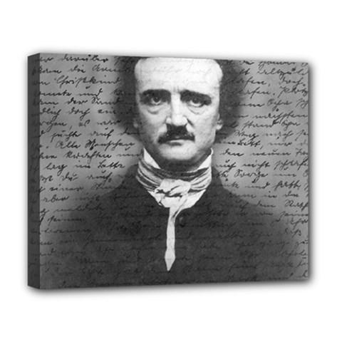 Edgar Allan Poe  Deluxe Canvas 20  X 16   by Valentinaart