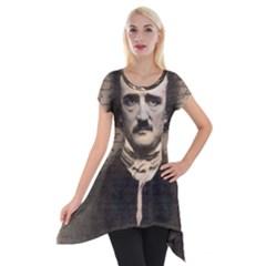 Edgar Allan Poe  Short Sleeve Side Drop Tunic by Valentinaart