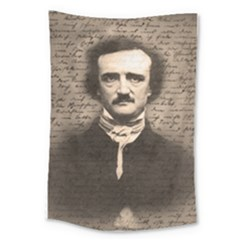 Edgar Allan Poe  Large Tapestry by Valentinaart