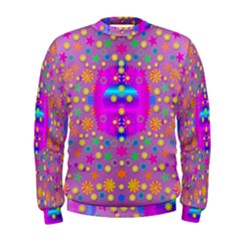 Colors And Wonderful Flowers On A Meadow Men s Sweatshirt by pepitasart
