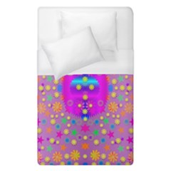 Colors And Wonderful Flowers On A Meadow Duvet Cover (single Size) by pepitasart