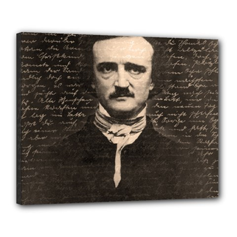Edgar Allan Poe  Canvas 20  X 16  by Valentinaart