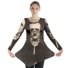 Edgar Allan Poe  Long Sleeve Tunic  by Valentinaart