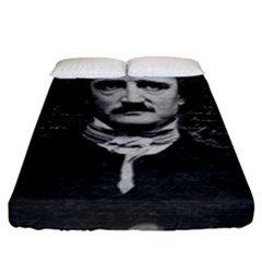 Edgar Allan Poe  Fitted Sheet (king Size) by Valentinaart