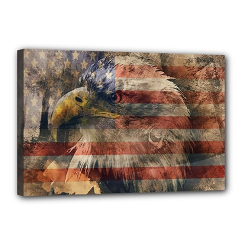 Vintage Eagle  Canvas 18  X 12  by Valentinaart