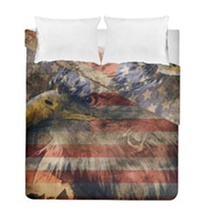 Vintage Eagle  Duvet Cover Double Side (full/ Double Size) by Valentinaart