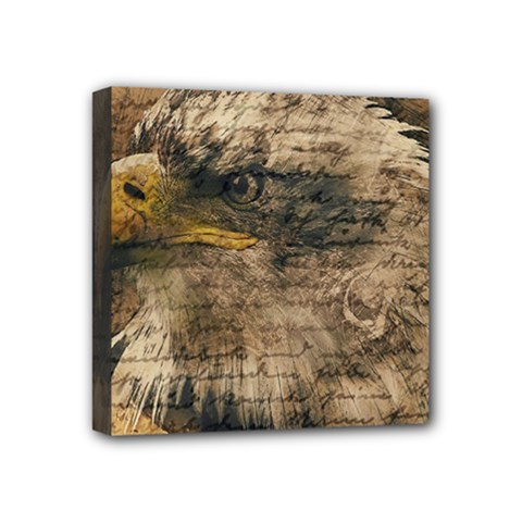 Vintage Eagle  Mini Canvas 4  X 4  by Valentinaart