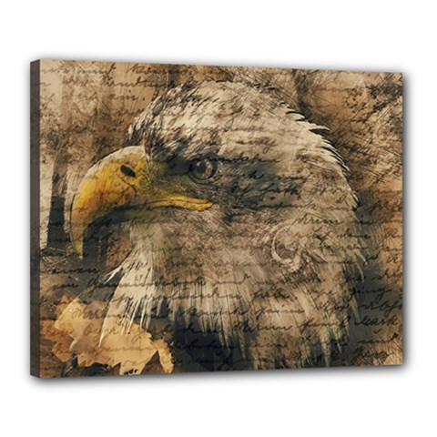 Vintage Eagle  Canvas 20  X 16  by Valentinaart