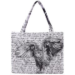 Vintage Owl Mini Tote Bag by Valentinaart