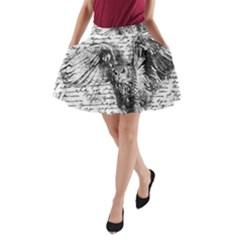 Vintage Owl A Line Pocket Skirt by Valentinaart