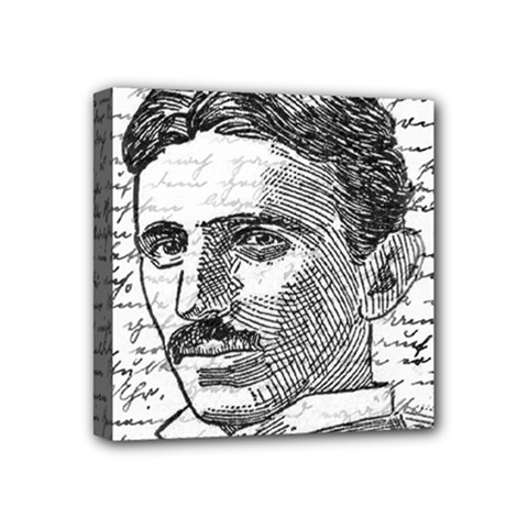 Nikola Tesla Mini Canvas 4  X 4  by Valentinaart