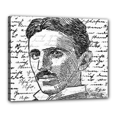 Nikola Tesla Canvas 20  X 16  by Valentinaart