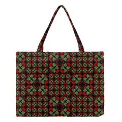 Asian Ornate Patchwork Pattern Medium Tote Bag by dflcprints