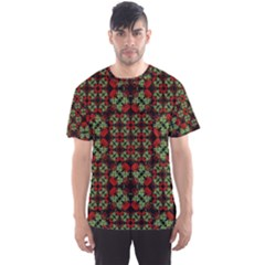 Asian Ornate Patchwork Pattern Men s Sport Mesh Tee by dflcprintsclothing