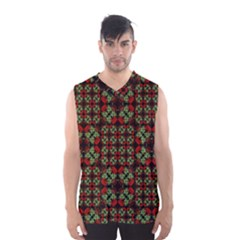 Asian Ornate Patchwork Pattern Men s Basketball Tank Top by dflcprintsclothing