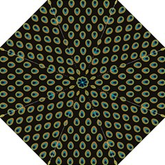 Peacock Inspired Background Golf Umbrellas by Simbadda