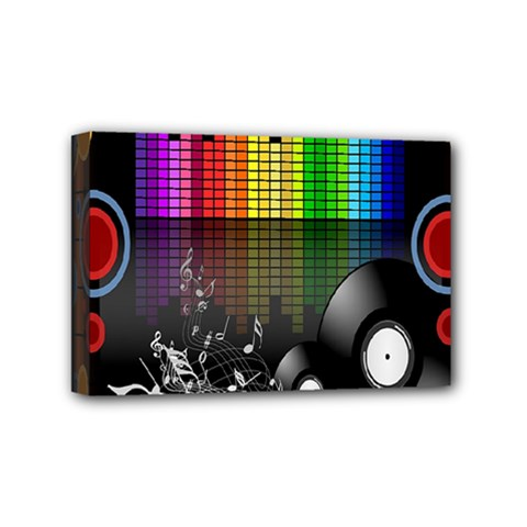 Music Pattern Mini Canvas 6  X 4  by Simbadda