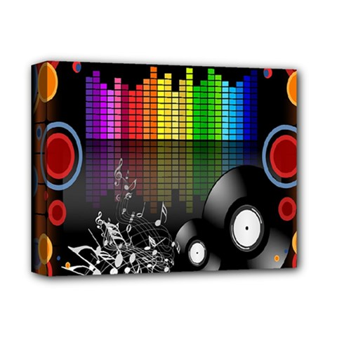 Music Pattern Deluxe Canvas 14  X 11  by Simbadda