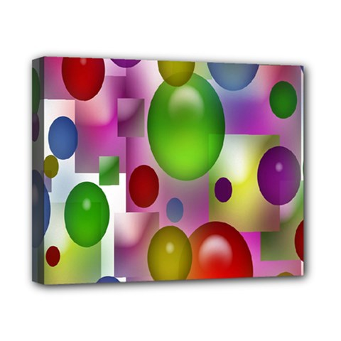Colorful Bubbles Squares Background Canvas 10  X 8  by Simbadda