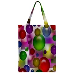 Colorful Bubbles Squares Background Zipper Classic Tote Bag