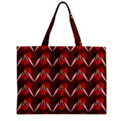 Peacocks Bird Pattern Zipper Mini Tote Bag by Simbadda