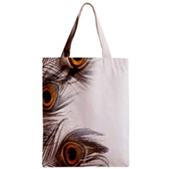 Peacock Feathery Background Zipper Classic Tote Bag