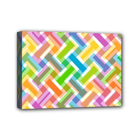 Abstract Pattern Colorful Wallpaper Mini Canvas 7  X 5  by Simbadda