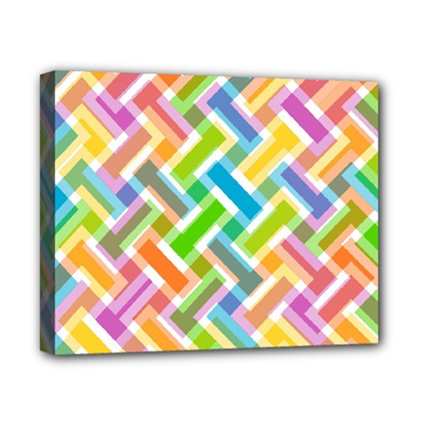 Abstract Pattern Colorful Wallpaper Canvas 10  X 8  by Simbadda