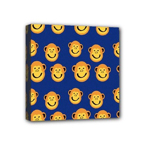 Monkeys Seamless Pattern Mini Canvas 4  X 4  by Simbadda
