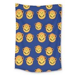 Monkeys Seamless Pattern Large Tapestry by Simbadda