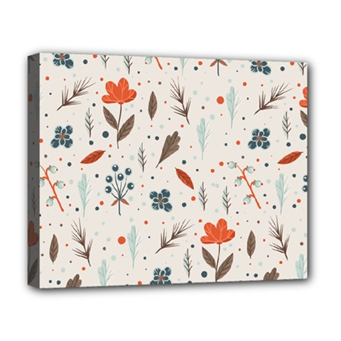 Seamless Floral Patterns  Deluxe Canvas 20  X 16   by TastefulDesigns