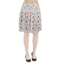 Seamless Floral Patterns  Pleated Skirt by TastefulDesigns