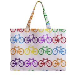 Rainbow Colors Bright Colorful Bicycles Wallpaper Background Mini Tote Bag by Simbadda