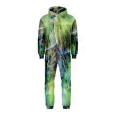 Digitally Painted Abstract Style Watercolour Painting Of A Peacock Hooded Jumpsuit (kids)
