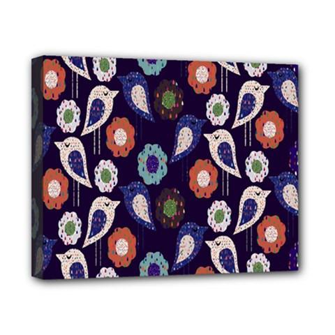 Cute Birds Pattern Canvas 10  X 8  by Simbadda