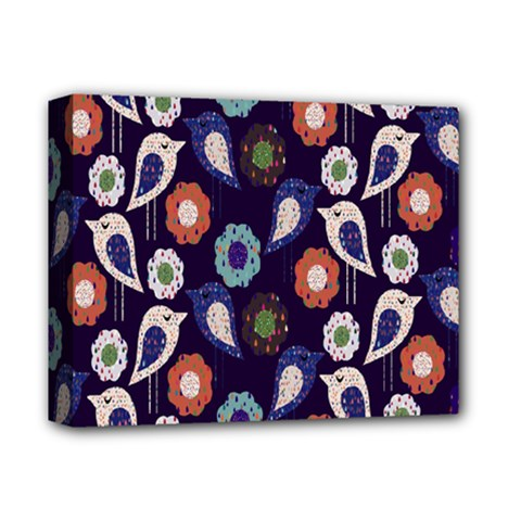 Cute Birds Pattern Deluxe Canvas 14  X 11  by Simbadda
