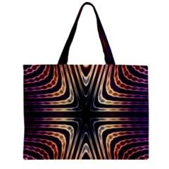 Colorful Seamless Vibrant Pattern Zipper Mini Tote Bag by Simbadda