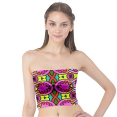 Love Hearths Colourful Abstract Background Design Tube Top by Simbadda