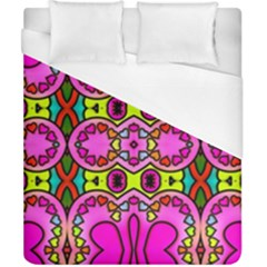 Love Hearths Colourful Abstract Background Design Duvet Cover (california King Size)