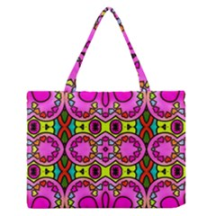 Love Hearths Colourful Abstract Background Design Medium Zipper Tote Bag by Simbadda