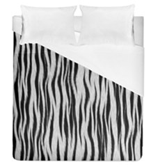 Black White Seamless Fur Pattern Duvet Cover (queen Size) by Simbadda