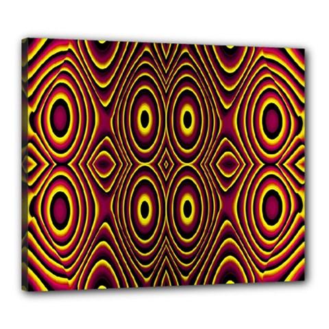 Vibrant Pattern Canvas 24  X 20  by Simbadda