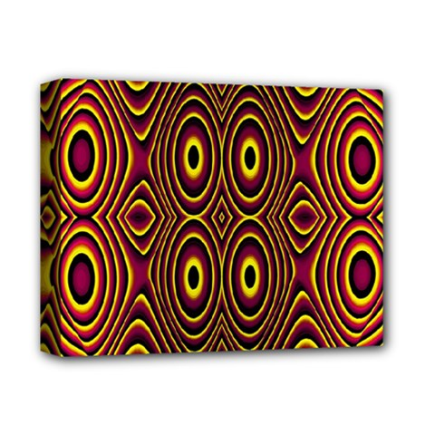 Vibrant Pattern Deluxe Canvas 14  X 11  by Simbadda