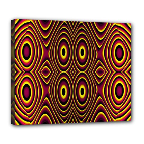 Vibrant Pattern Deluxe Canvas 24  X 20   by Simbadda