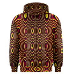 Vibrant Pattern Men s Zipper Hoodie by Simbadda