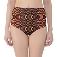 Vibrant Pattern High Waist Bikini Bottoms