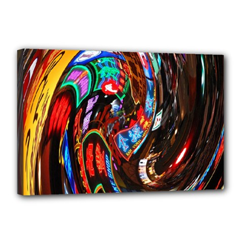 Abstract Chinese Inspired Background Canvas 18  X 12  by Simbadda