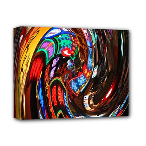 Abstract Chinese Inspired Background Deluxe Canvas 14  X 11  by Simbadda